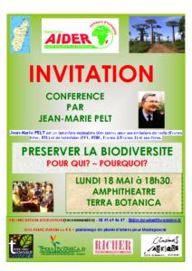 Invitation à la Conférence de Jean-Marie PELT